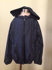 Gap navy blue polka dots windbreaker for girls sz. 8 small