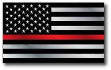 Red Lives Matter Firefighter American Thin Red Line USA Flag Decal Sticker
