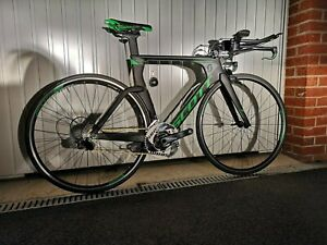 Scott Plasma 20 TT / Triathlon Bike Size Small -Carbon Quarq, Tririg front, PDQ