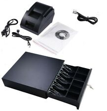 Point of Sale Pos: Usb Thermal Receipt Printer + Cash Drawer Register Box 5Bill