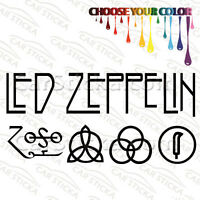 Led Zeppelin EXTRA LARGE Music Band Die Cut Vinyl Car Decal Sticker-SHIPS FREE