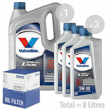 Engine Oil and Filter Service Kit 8 LITRES Valvoline SynPower C3 5W-30 8L