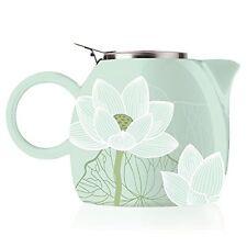 Tea Forte PUGG 24oz Ceramic Teapot with Tea Infuser, Loose Leaf Tea Steeping For