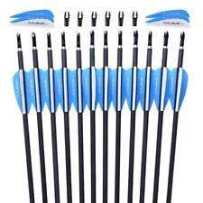 US 12PCS 30inch Practice Archery Carbon Arrows Spine 1000 F Recurve/Compound Bow