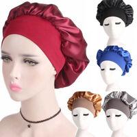 Sleeping Bonnet Women Satin Beanie Hair Wrap Hat Cap Headband Headwear Turban