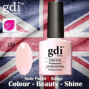 UK SELLER Gdi Nails NUDE Range U09 UV/LED Gel Soak Off nail polish