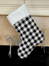 Personalized Black Plaid Christmas Stocking