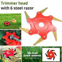 6T Blade 65Mn Manganese Steel Brush Cutter Lawn Mower Grass Trimmer Head
