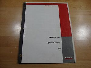 Case IH M200 air system monitor operators manual