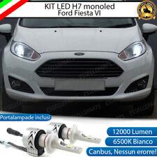 KIT LED H7 FORD FIESTA 6 VI 6500K CANBUS 12000LM LUMEN MONO LED LENTICOLARE