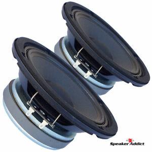 "PAIR Faital PRO 6FE200 6.5"" Midrange Woofer Voice Speaker 8 ohm 260W 95dB 1.5 VC"