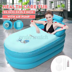 Portable Inflatable Bath Tub Adult SPA PVC Blow Up Spa Warm Bathtub Air Pum