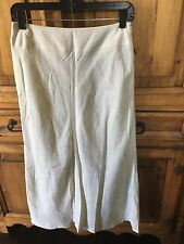 East 5th Ivory Linen A-Line Long Skirt 4 Lined