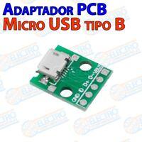 Adaptador Conector Micro USB Tipo B Hembra 2.0 con placa PCB - Arduino Electroni