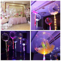 New LED Light Balloons Transparent Balloon Wedding Birthday Party Lights Decor