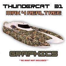 ProBoat ThunderCat 31 - Max4 RealTree - Custom Decal Kit  Premium Boat Graphics