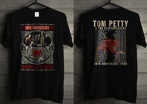 TOM PETTY Men's T- shirt Black 40th ANNIVERSARY TOUR _HQ-Design_