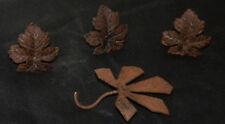 4 feuilles en métal, motif chêne et marronnier. Décor de lustre. Art-nouveau
