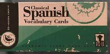 Classical Spanish Bilingual Vocabulary Cards: Academic Study Card Set Vis-Ed