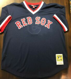 Ted Williams 1990 Authentic Mesh BP Jersey Boston Red Sox, SIZE 48