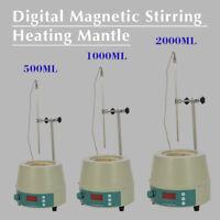 Top 500ML/1000ML/2000ML Electric Digital LCD Magnetic Stirring Heating Mantle