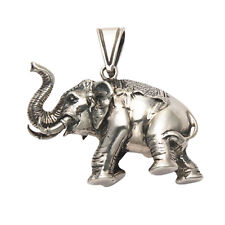 Sterling Silver Large 3D Elephant Pendant - SPD283