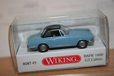 Wiking 018749, BMW 1600 GT Cabrio, hellblau, neu, OVP