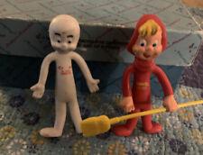 Vintage 1979 Casper The Friendly Ghost & Wendy Bendable Figure by Harvey Cartoon