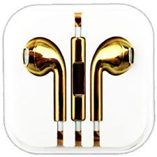 Gold Chrome Earphones Handsfree Headphones For Earpods Mic SONY HTC SAMSUNG S 6