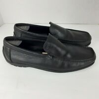 Ecco Black Leather Driving Loafers Slip On Moccasins Shoes  Mens Size 44 US 11