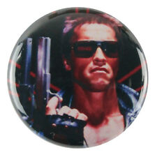 "1"" (25mm) 'Terminator' Arnold Schwarzenegger Button Badge Pin - Custom Badge"
