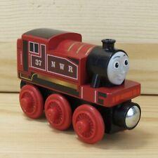 RED ROSIE - THOMAS & FRIENDS WOODEN TRAIN ENGINE - 2012 MATTEL - NEAR MINT+
