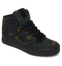 DC Shoes Mens Pure High Top shoes in Camo/Rust/Orange