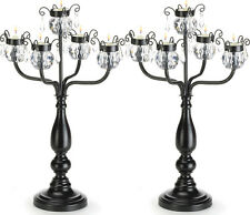 2 Candelabra Candle Holder - Black Extra Large Wedding Centerpieces 17�Tall New