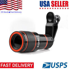 Universal HD 12x Optical Zoom Clip-on Camera Lens Phone Telescope For Cell Phone