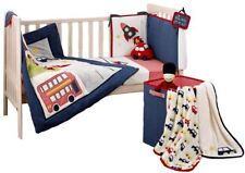 Suncrest FETCH THE ENGINE COT BEDDING SET Bumper Sheets Quilt Vehicles BN