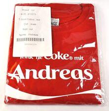 COCA-COLA COKE ANDREAS Camiseta roja talla XXL NOMBRE con