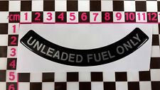 Unleaded Fuel Only Resin Decal - Triumph TR7 TR8