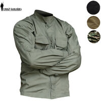 Tactical Military Waterproof Mens Shirts jacket Combat Urban Coats Scout shirt