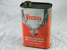 VINTAGE VEEDOL FLYING A OUTBOARD MOTOR OIL CAN SAE 30 EMPTY