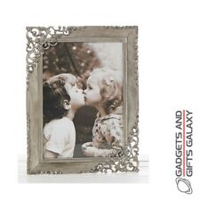 Rustic Steel Lace Frame 5x7 Shabby Chic Style Photo Photograph Picture Gift Home