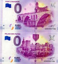 84 AVIGNON Palais des Papes 5 et 6, Mêmes N°, 2019, Billet 0 € Souvenir