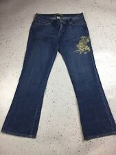 Old Navy Bootcut Gold Embroidered Jeans, Size 8, Excellent Used Condition, Boho