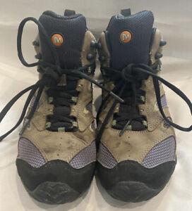 Merrell Size US 7 UK 6.5 EUR 40 Hiking Boots Shoes Khaki Grey Black
