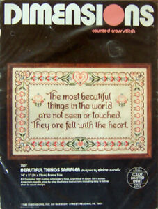 "Dimensions ""BEAUTIFUL THINGS SAMPLER"" Counted Cross Stitch Kit #3507 - Sealed!"
