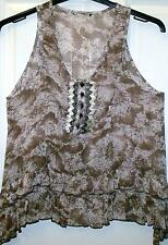 SUPER EX-STORE BROWN BEADED VEST STYLE SUMMER TOP SIZE 10   # 2