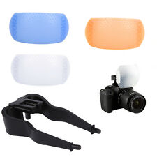 Adjustable 3 Colors 3 in 1 Pop-up Flash Diffuser Kit For Canon Nikon Olympus New