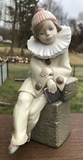 New ListingLladro Figurine Little Jester Sitting Clown with Book #5203 Gloss Excellent Cond