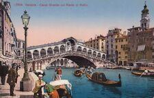 Postcard Canal Grande col Ponte di Rialto Venezia Venice Italy