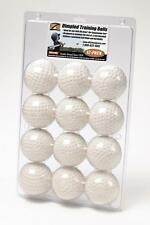 One Dozen Plastic Dimpled Baseballs For Hit Zone Air Tees